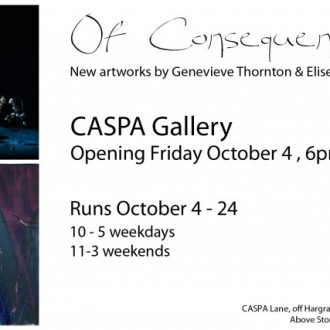 Of Consequence – Genevieve Thornton and Elise Lidgett – October 2013